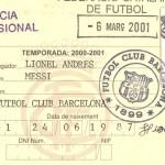 Ficha Messi Barcelona