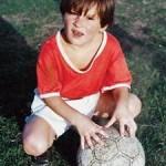 Leo Messi de pequeño